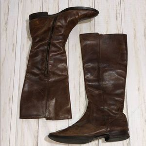 J Crew Leather Distressed Leather Boots